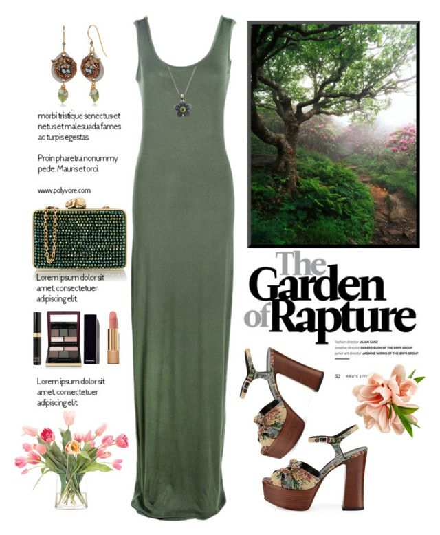 """""""Garden of Rapture"""" by saifai ❤ liked on Polyvore featuring Wilbur & Gussie, NDI, Yves Saint Laurent, Kevyn Aucoin, Chanel, Tom Ford, Boohoo, Jane Bohan, Silver Forest and maxidress"""