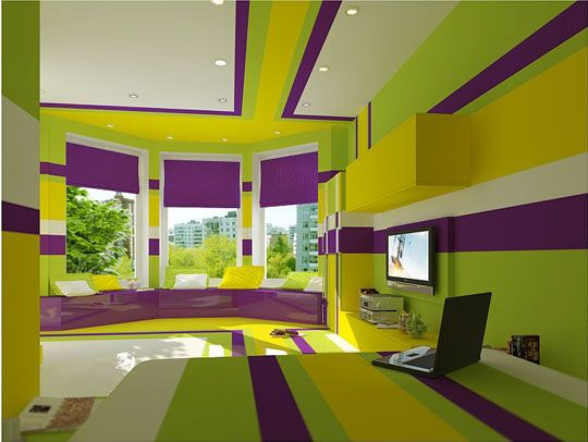 Lime And Purple Bedroom Purple Bedrooms Split Complementary