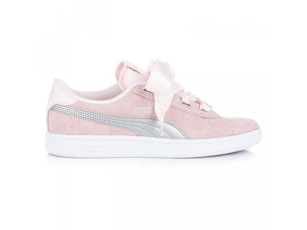 puma smash v2 ribbon rosa