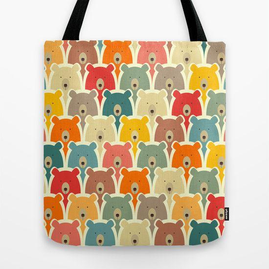 Bears cartoon pattern Tote Bag