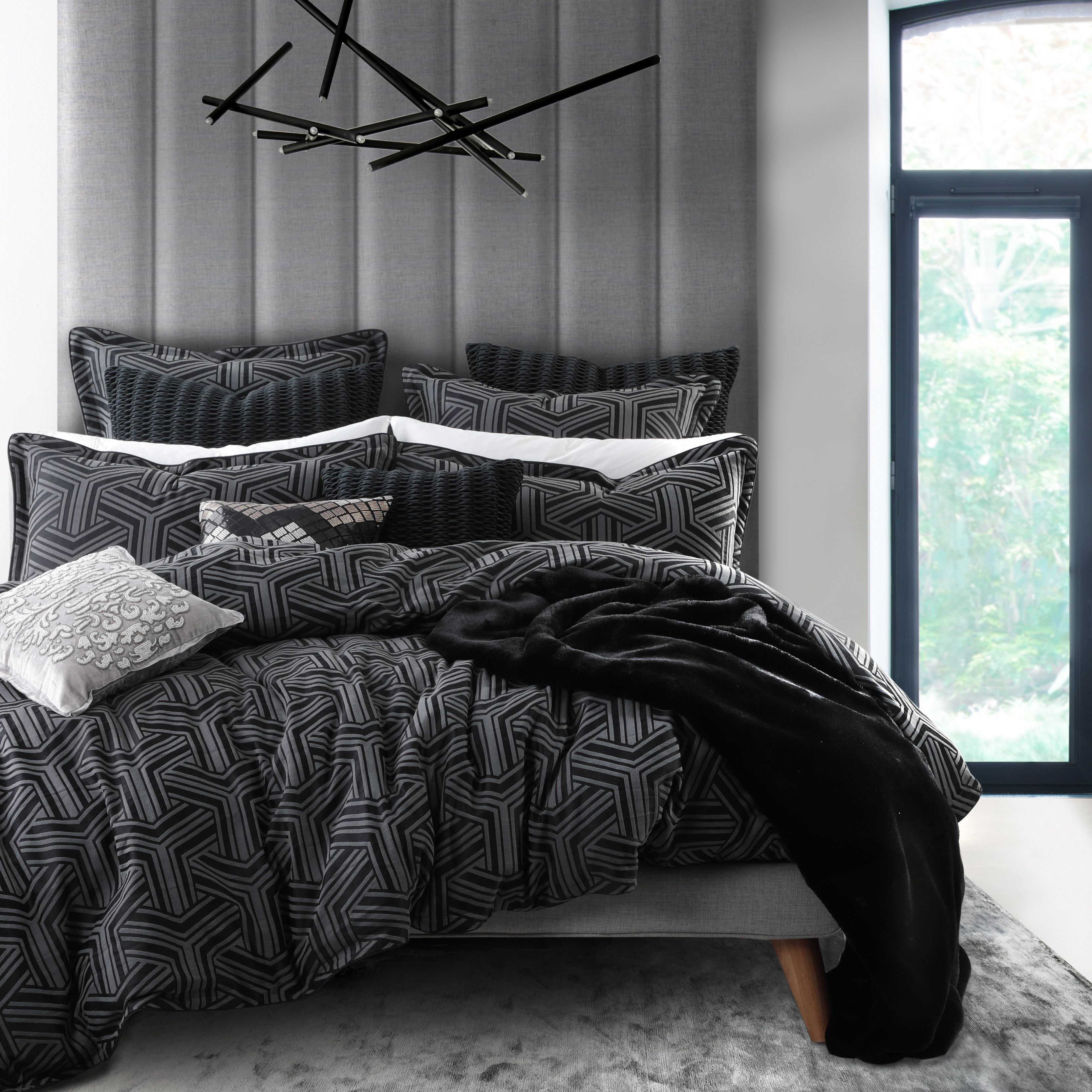 Bellamy Charcoal Quilt Set By Private Collection In 2020 Bedroom