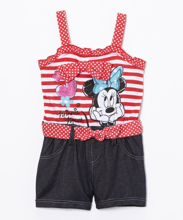 a6c17ad9ed64 Look at this Minnie Mouse Minnie Mouse Romper - Toddler on  zulily today!