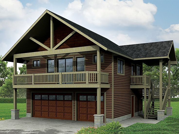 051g 0077 craftsman style 3 car garage apartment plan for Carriage house plans with apartment