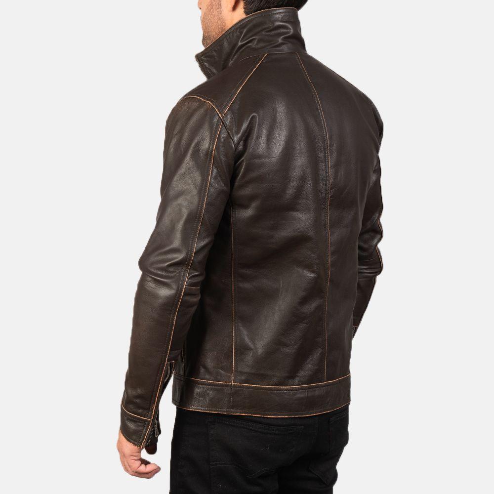 Hudson Brown Leather Biker Jacket Leather Biker Jacket Black Leather Bomber Jacket Biker Jacket [ 1000 x 1000 Pixel ]