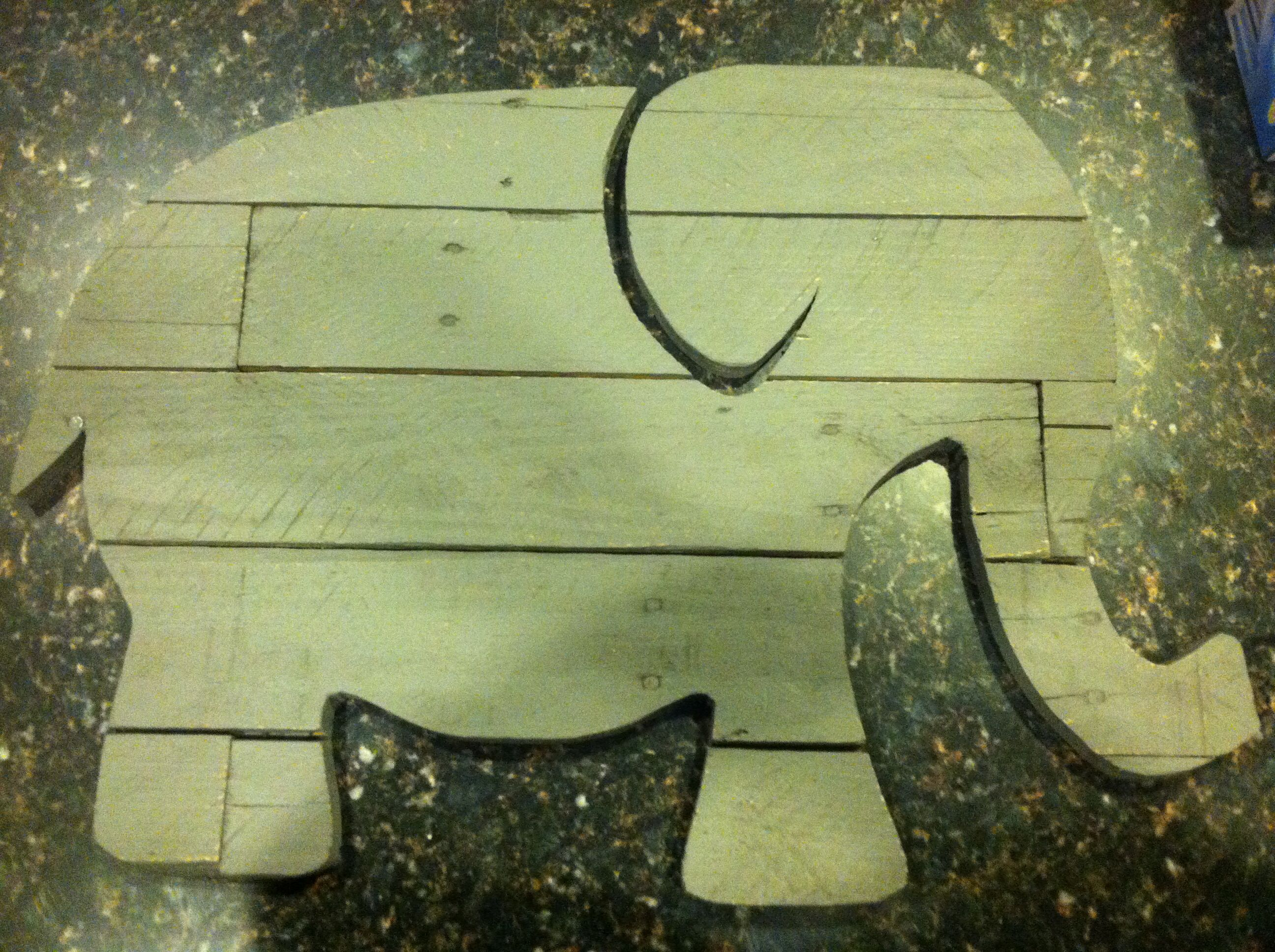 Elephant made from pallet wood, baby decor, craft | Upcycled stuff ...
