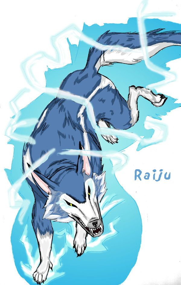 Raiju Is Raijin S Dog And In Some Ways His Method Of Attacking The Characters In Game And Manga Story Descript Creature Design Creature Art Animal Drawings This legendary creature is composed o. raiju is raijin s dog and in some ways