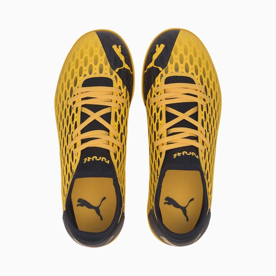 Puma Future 5 4 Tt Youth Football Boots In Ultra Yellow Black Size