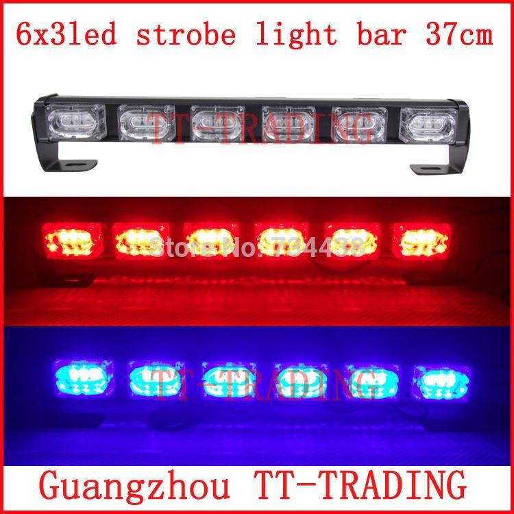 6x3 Led Police Strobe Lights Vehicle Strobe Light Bar Car Warning