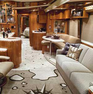 Inside Of A Custom Rv Luxury Motorhomes Luxury Rv Rv Interior