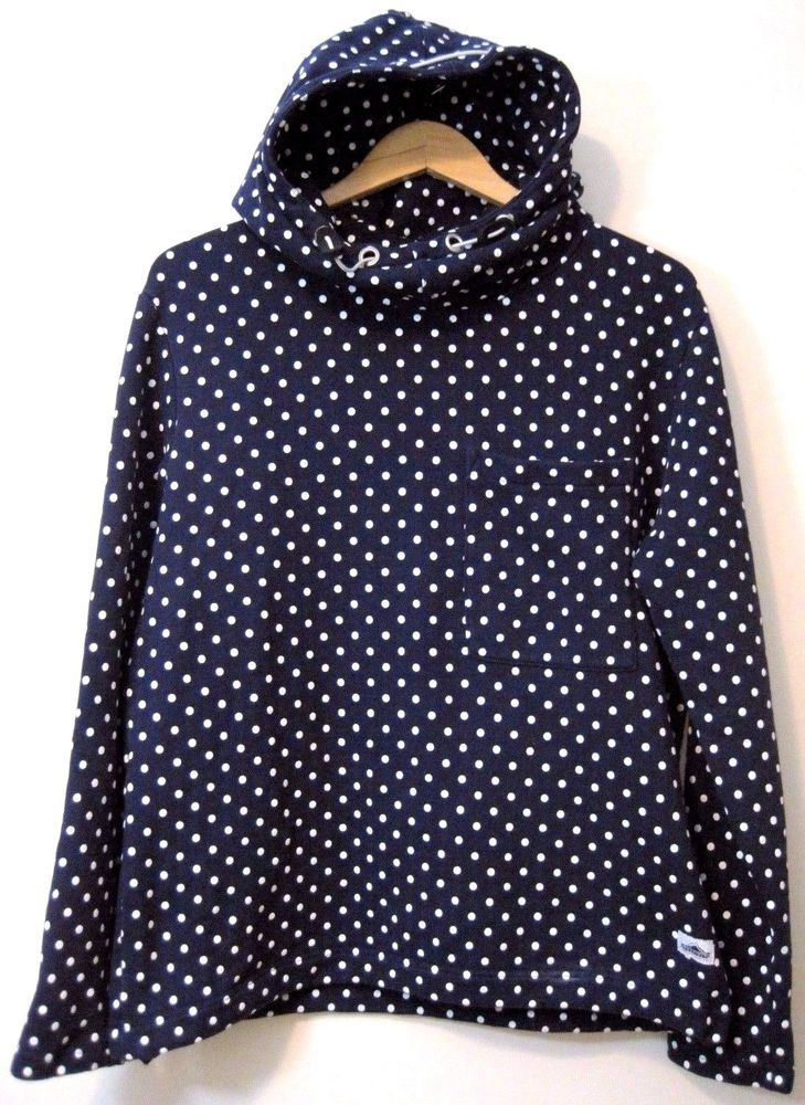 Penfield Women's Hoodie in Blue and White Polka Dot. Oh So 50's cute! #Penfield #Pullover