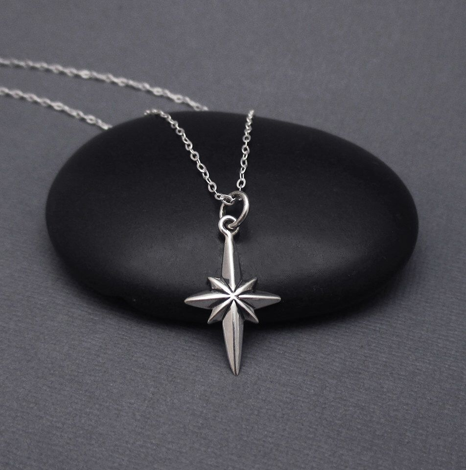 silver north a life prosperous pendant necklace financially pin star