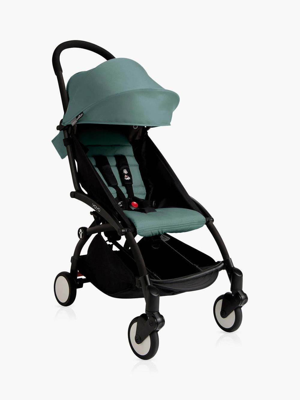 BABYZEN YOYO+ Pushchair, Black/Aqua Yoyo stroller