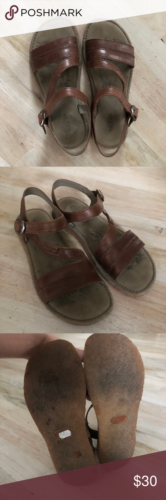 ef03de89773c Keen Sierra Dress Sandal Full grain leather with a synthetic sole. EUC!  Shows no signs of wear! Keen Shoes Sandals