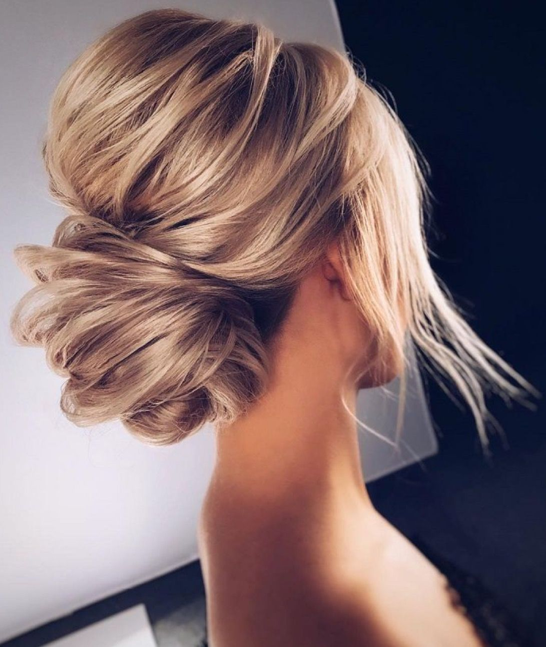 Beautiful Wedding Hairstyle For Long Hair Perfect For Any: Beautiful Voluminous Low, Chignon-style Bun-- Perfect Updo