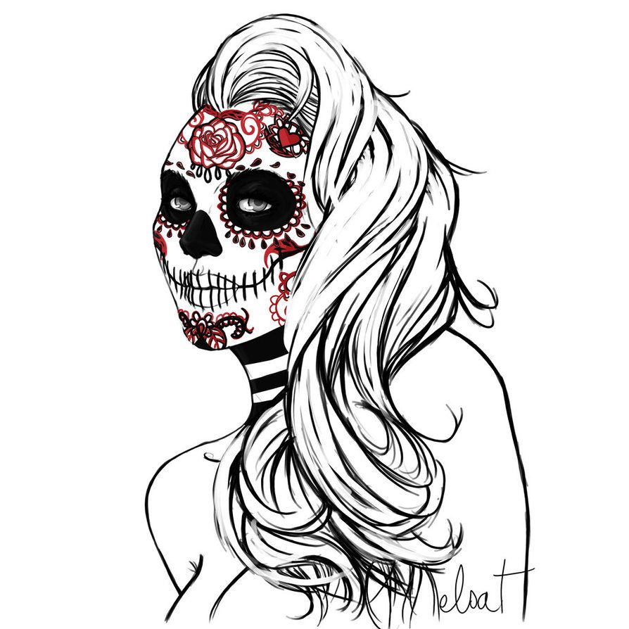 Mexican Skull Art | Mexican Skull by ElsaVonNarbe