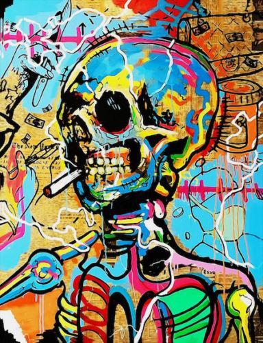 Acheter Decores Hd Imprimer Alec Monopoly Graffiti Pop Art Colorful Art Painting