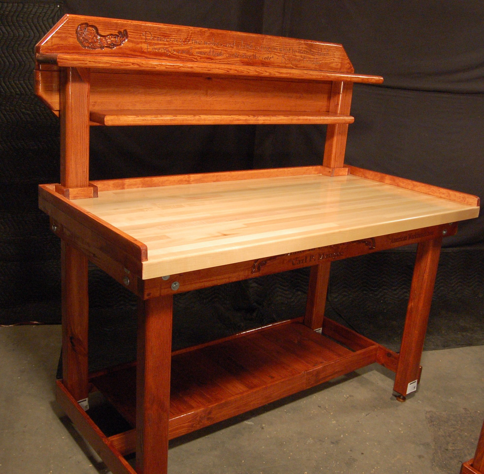 wooden loading bench