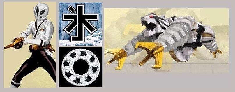 The Black Samurai Ranger With His Darkness Kanji Symbol Power Disc