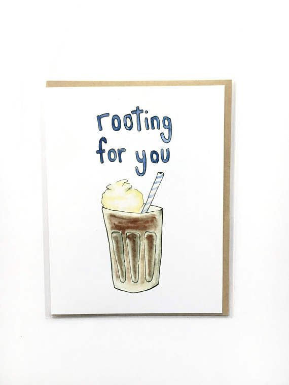 funny encouragement card  rooting for you  pep talk card