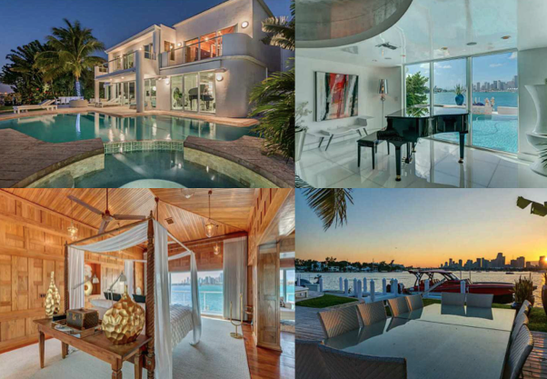 28 West San Marino Drive, Miami Beach  Enjoy living your LUXE life in this exceptional two story waterfront residence. Be captivated by the breathtaking views of Biscayne Bay and the Miami skyline.