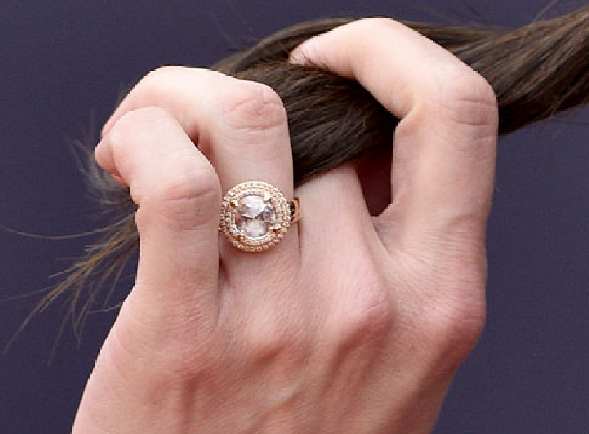 Alison Brie Engagement Ring Famous Engagement Rings Celebrity Engagement Rings Rose Gold Engagement Ring