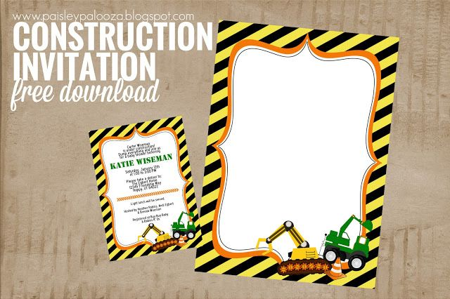 Construction Baby Shower Invite Free Download Construction Baby Shower Construction Baby Shower Invitation Baby Shower
