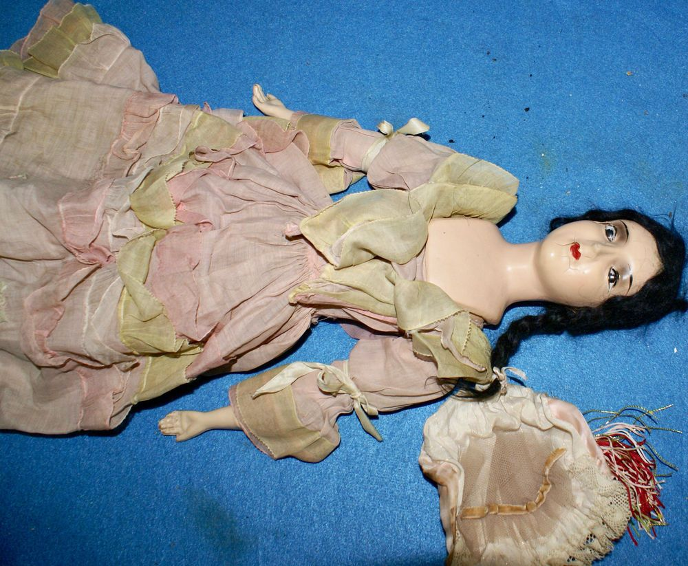 This is an original doll not a replica. There are no marks on her to help identify maker, except word Eglantine inside of her skirt. Her face/skin is delicate and has very few cracks, as seen in the images so must be handled carefully. | eBay!