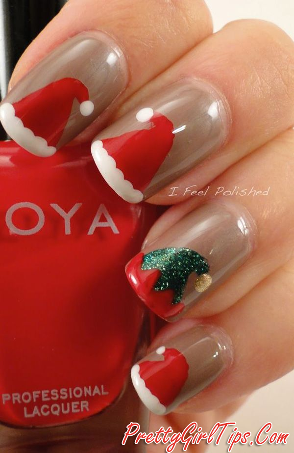 @prettygirltips Cute Christmas Nail Art