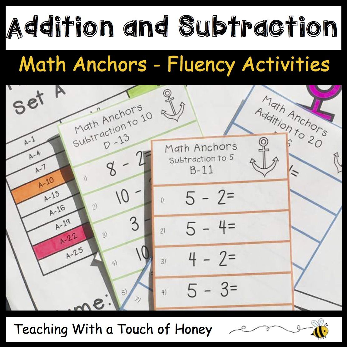 Addition And Subtraction From Teaching With A Touch Of