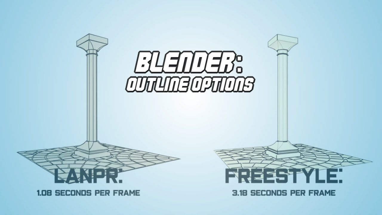 Blender Outline Options Youtube In 2020 Blender Outline Blender 3d