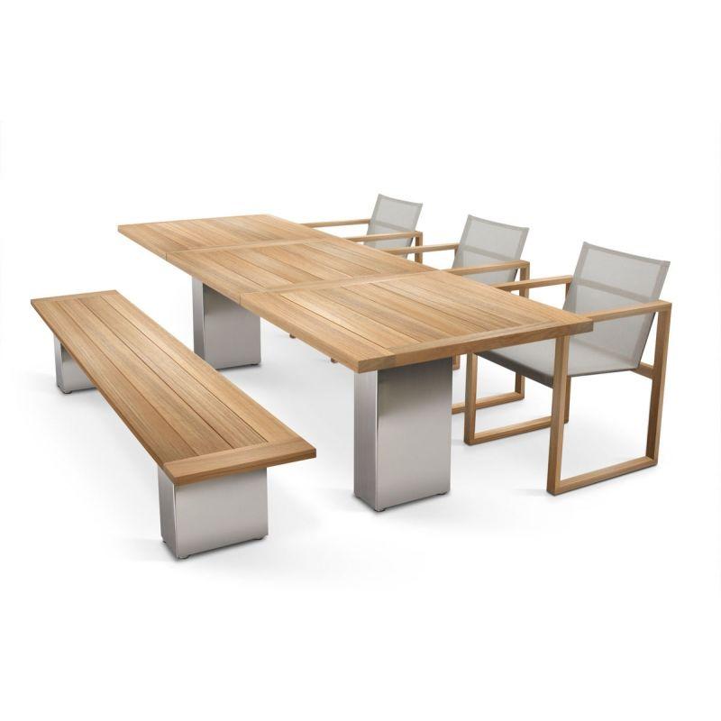 Gartentisch Cima Dining Doble 300 Cm Rechteckig Mit Teakholzplatte