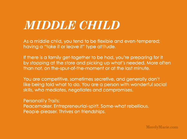 Discover Your Birth Order Personality Middle Child Personality