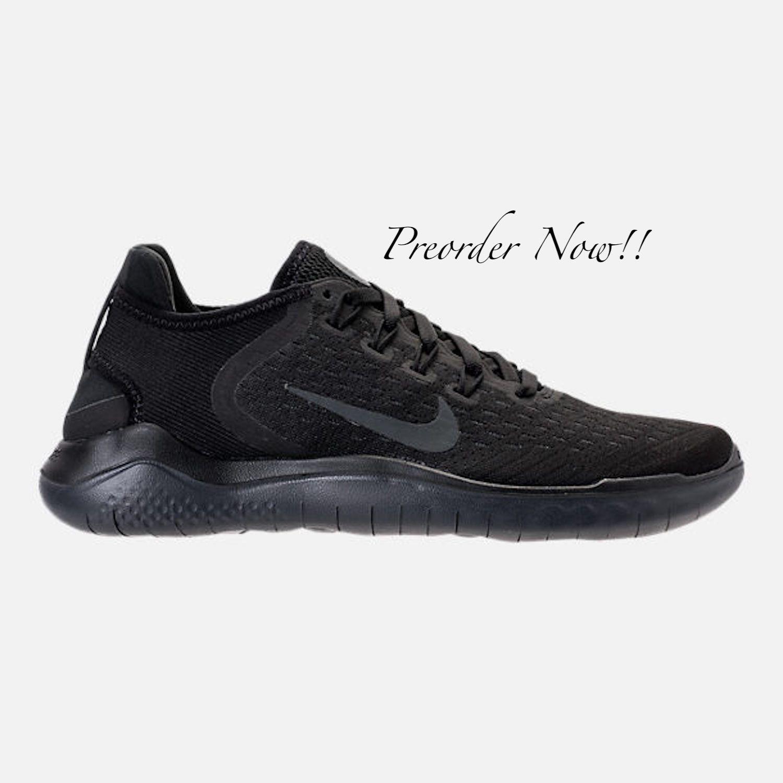 0821a68b7fe45 Swarovski Women's Nike New Free RN Run 2018 All Black Sneakers ...