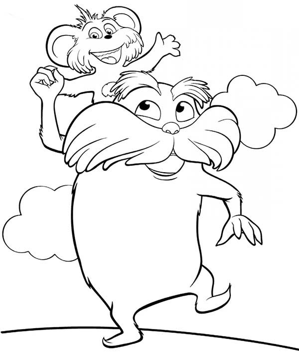 The Lorax And Forest Inhabitant Coloring Pages Coloring