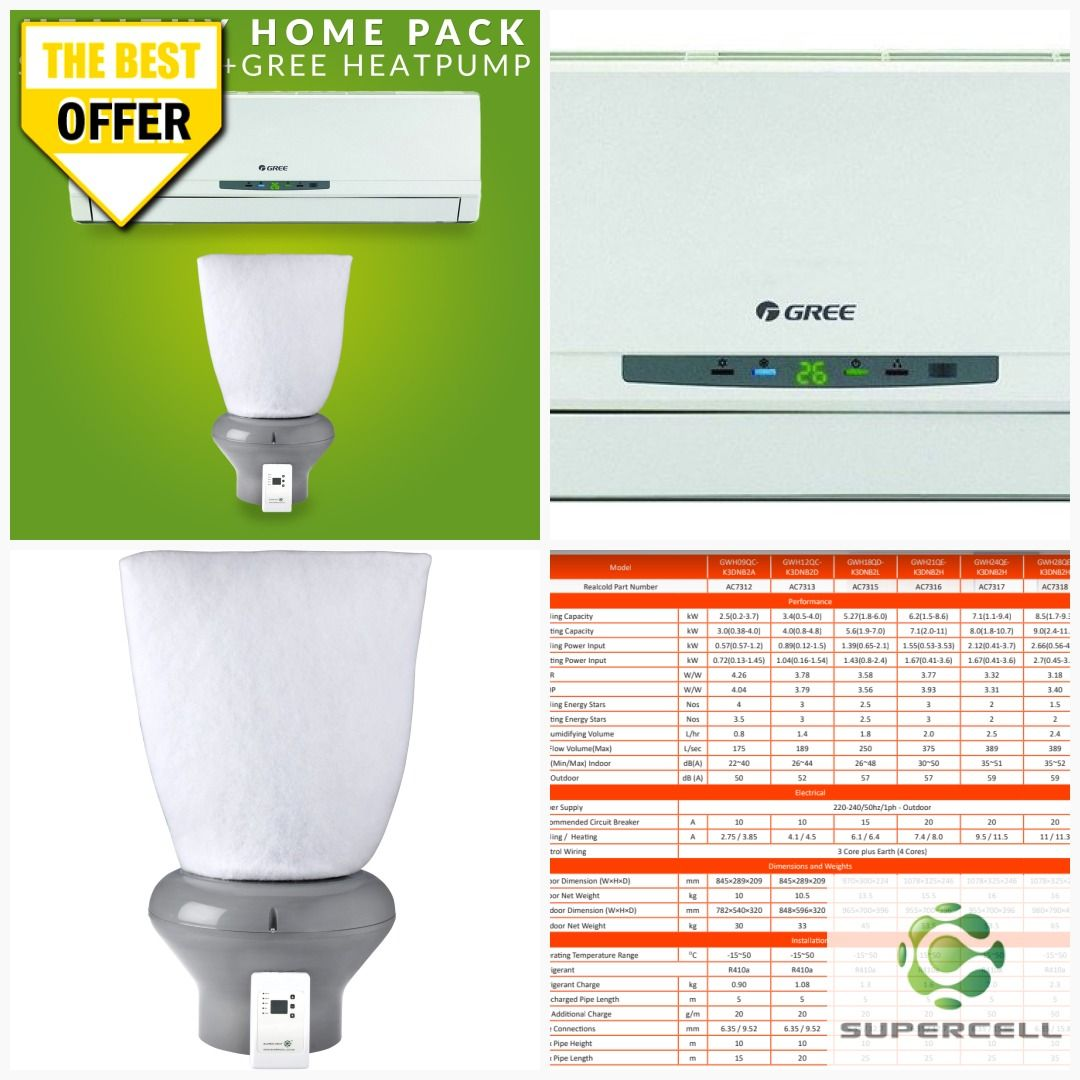Supervent Ventilation System 2 5kw Gree Heat Pump Combo In 2020 Diy Air Conditioner Ventilation System Heat Pump
