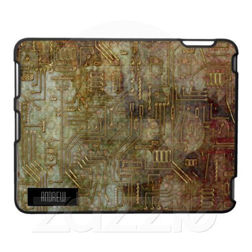 Steampunk Circuit Board iPad