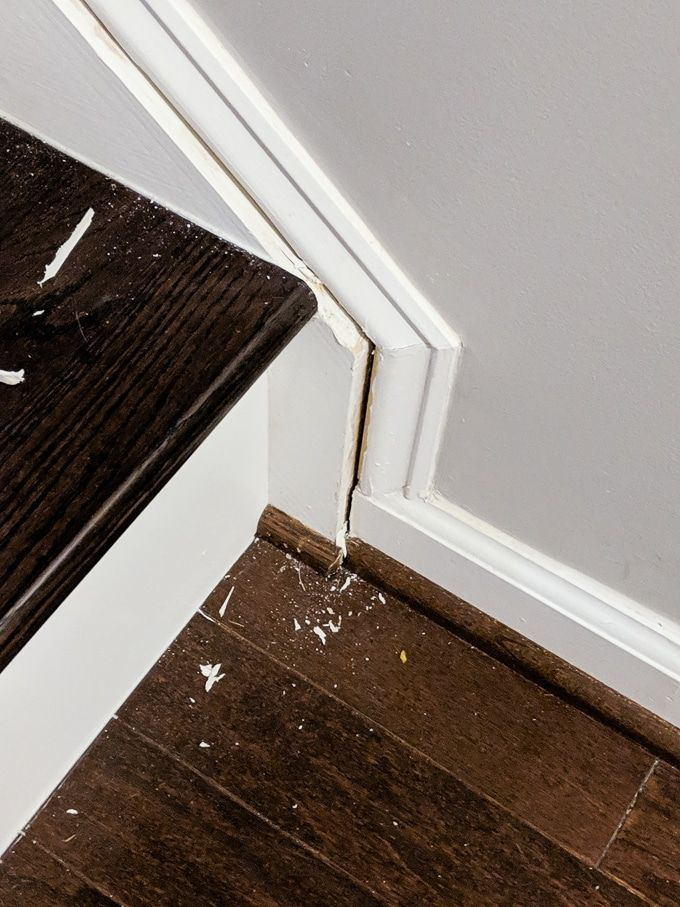 Best How To Caulk Hardwood Stairs Repair Cracked Stair Stringers And Trim With Images Stairs 400 x 300