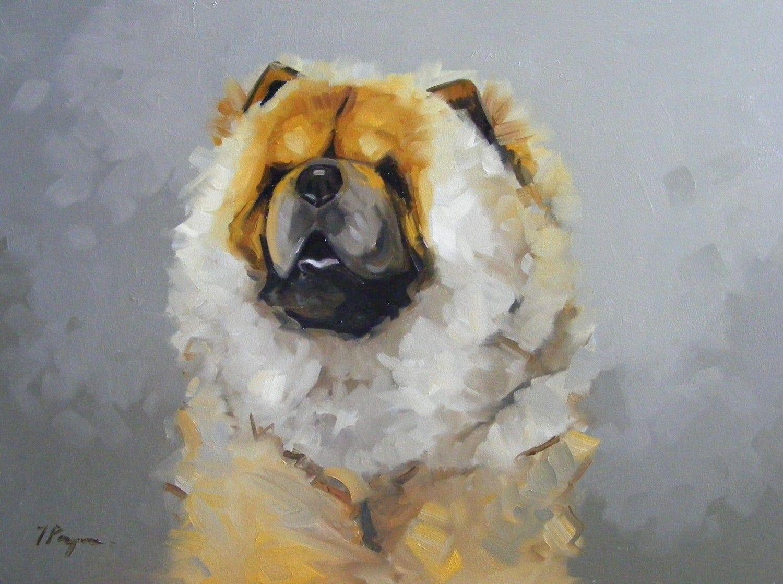 Original Oil Painting Portrait Of A Chow Chow Dog 65 00 Via