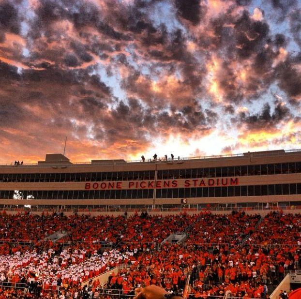 Boone Pickens Stadium Go Pokes Oklahoma State University Oklahoma State Football Oklahoma State