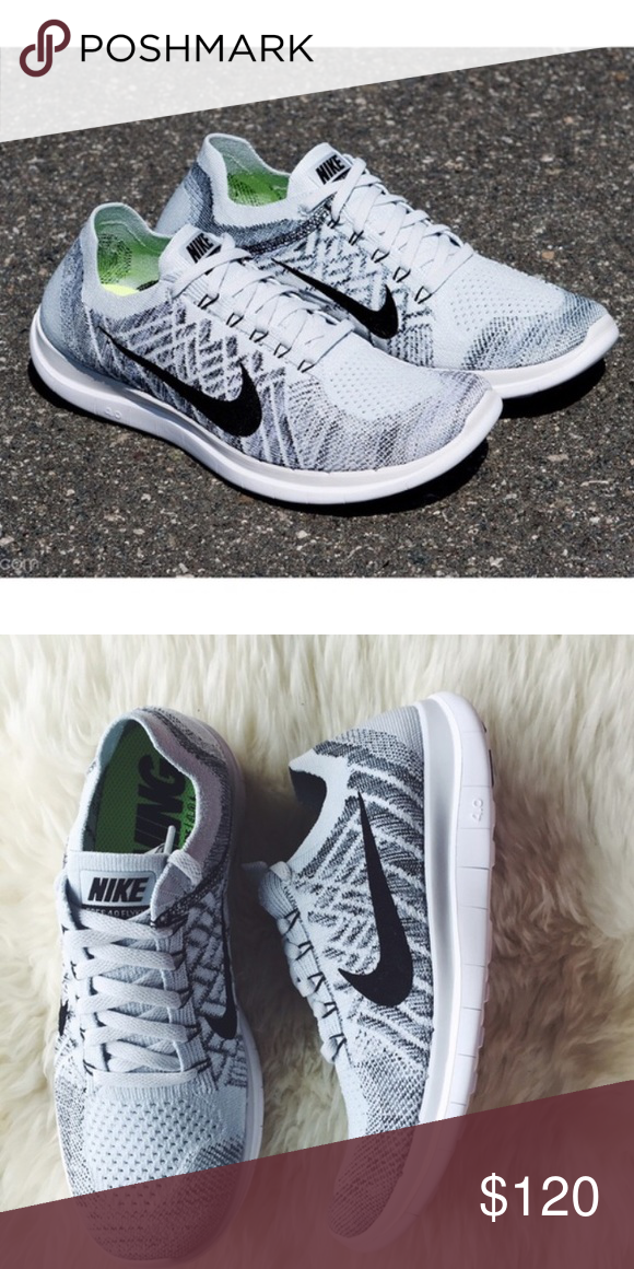 official photos 30209 17d5b Nike Free Flyknit 4.0 Pure Platinum White Grey Nike Free 4.0 ...