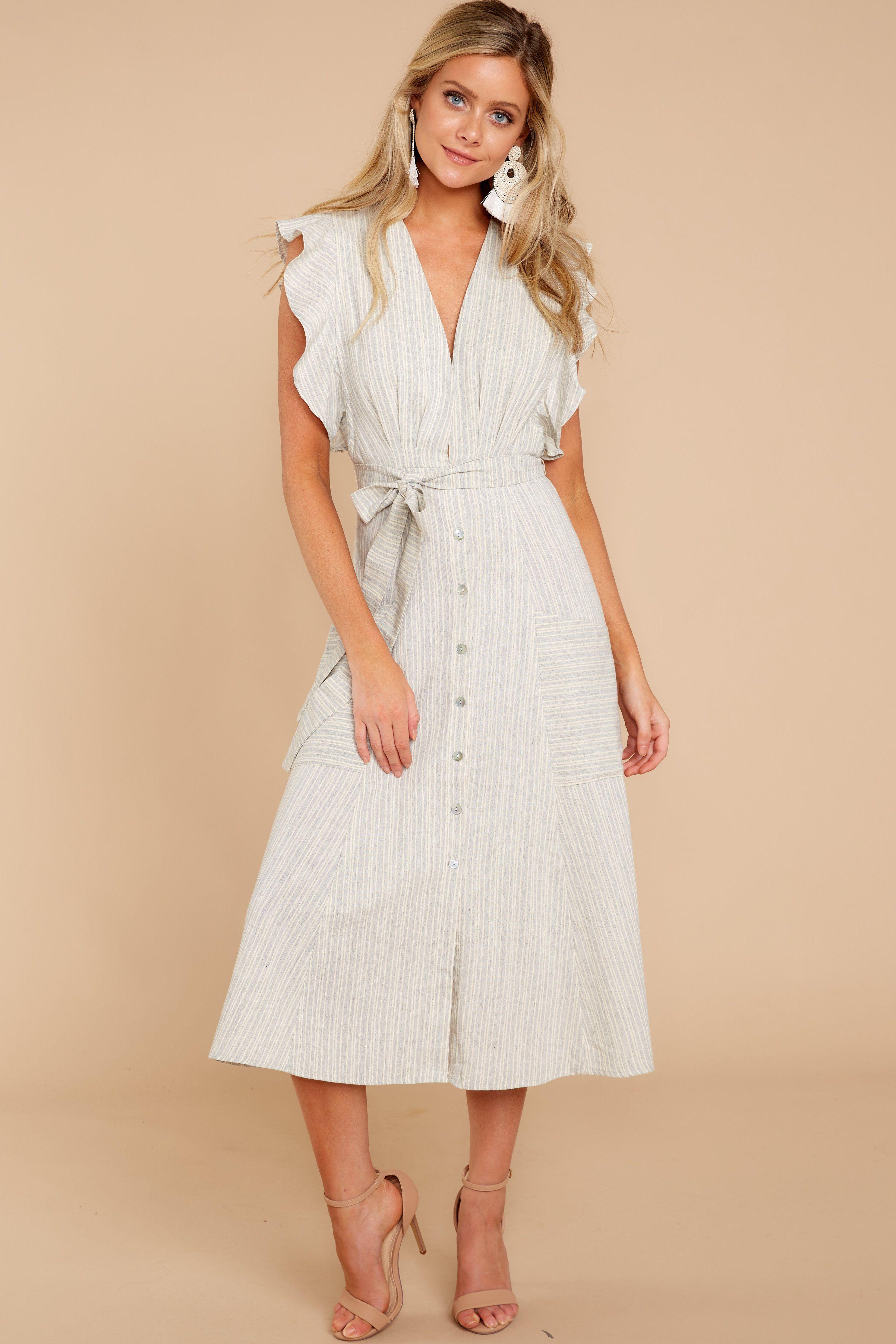 1d21580674e Get It Back Grey Stripe Dress – Red Dress Boutique
