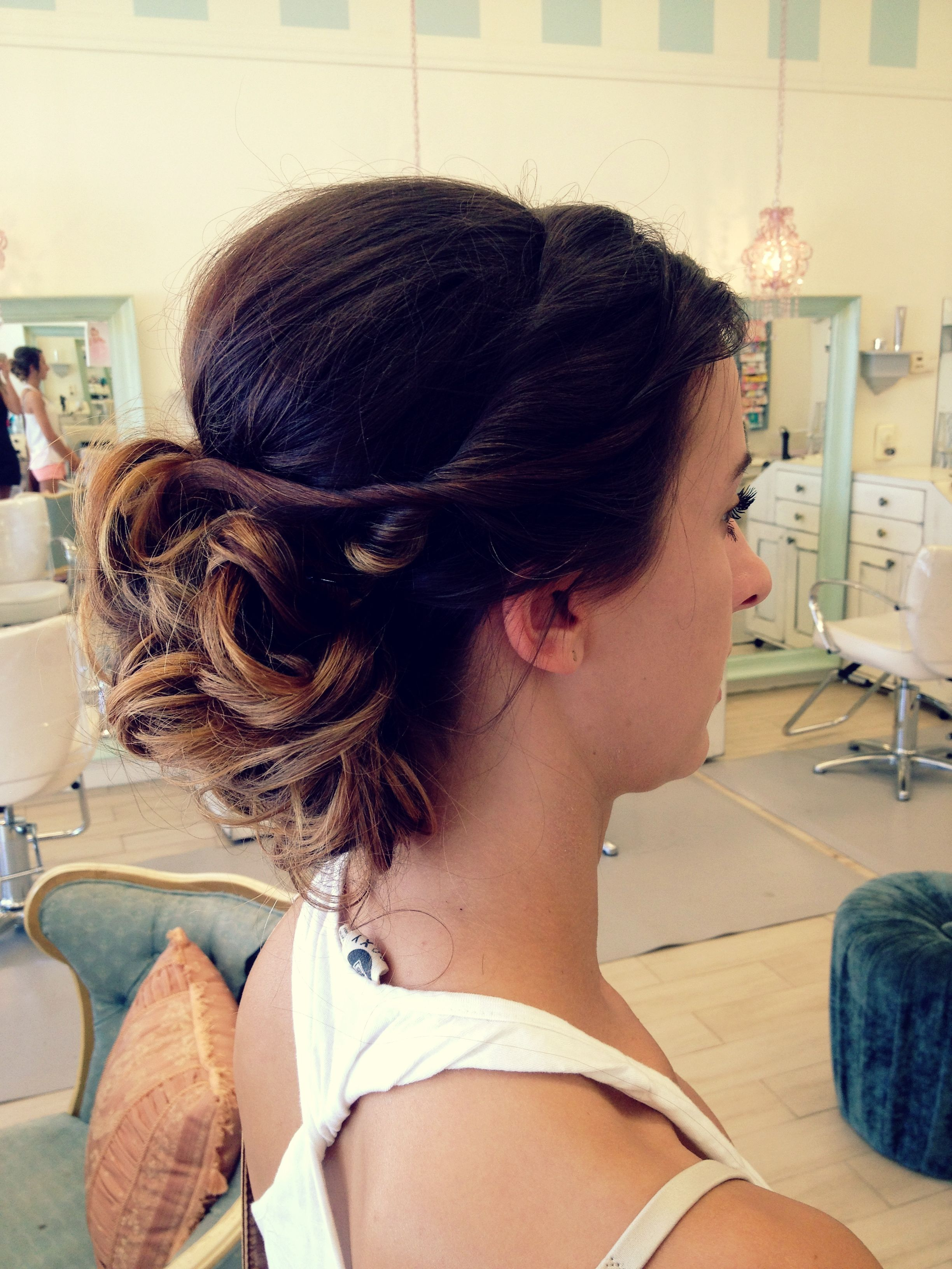 Prom teen hair
