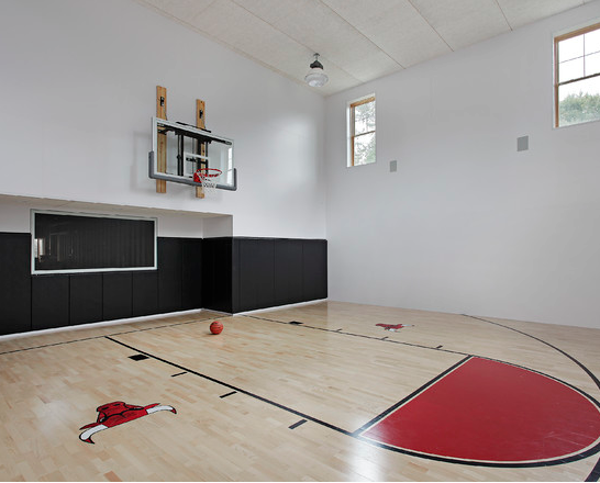 House plans with basketball court look at some private for Indoor basketball court plans