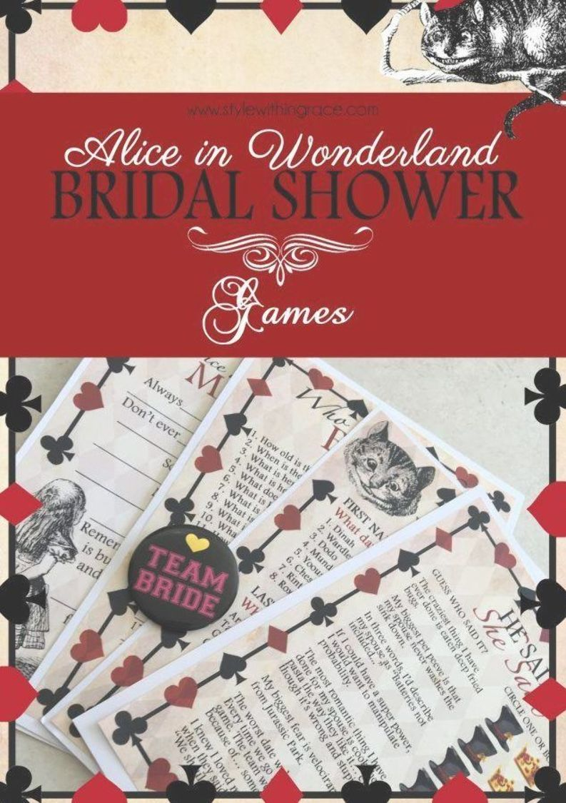 Alice In Wonderland Bridal Shower Games Free Printable Templates And Idea Bridal Shower Invitations Diy Bridal Shower Invitations Templates Bridal Shower Diy