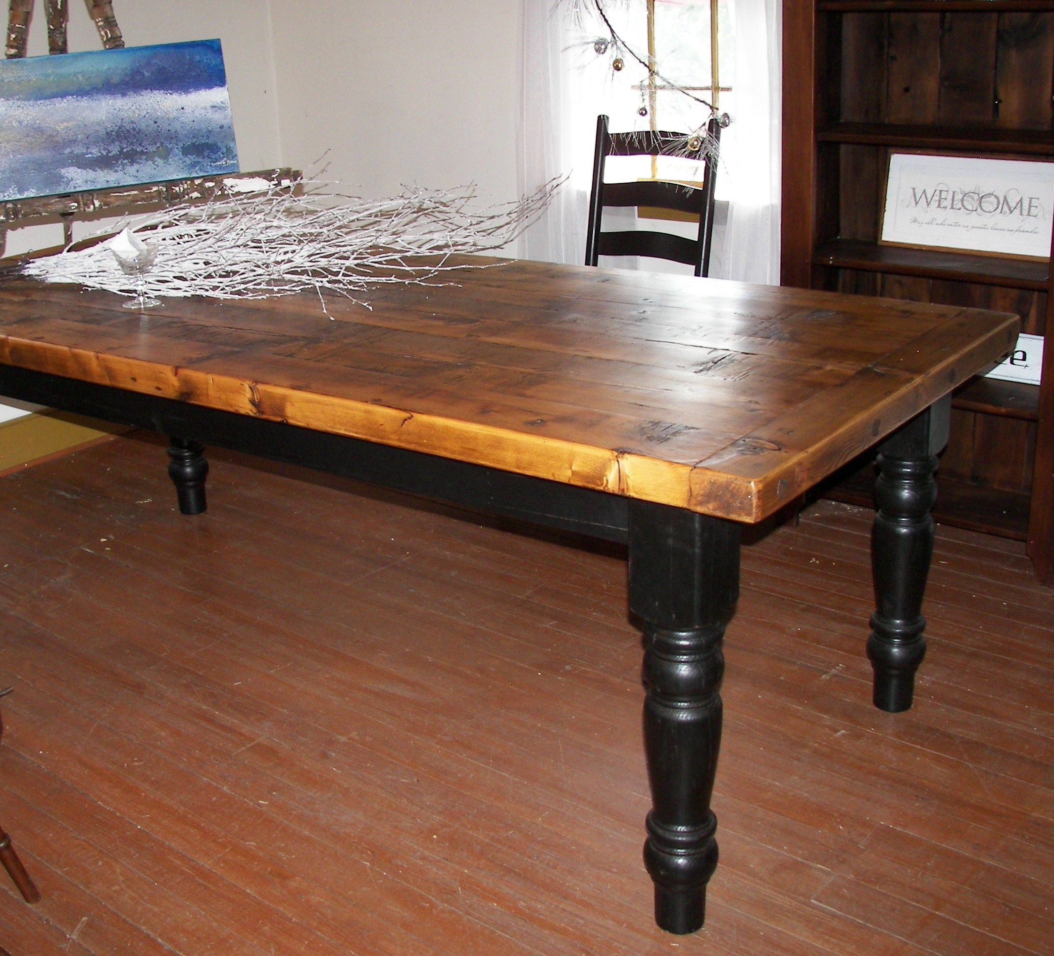 Another 3 Thick Top Reclaimed Barn Wood Farm Table This Time