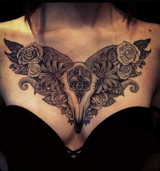Incredible Baroque Style Tattoo On Chest Design Of Tattoos Chest Tattoos For Women Chest Tattoo Tattoos
