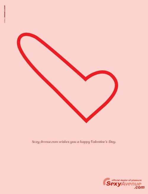 Sexy Avenue: Happy Valentine's Day - from 20 Playful Happy Valentines Day Advertisement Ideas