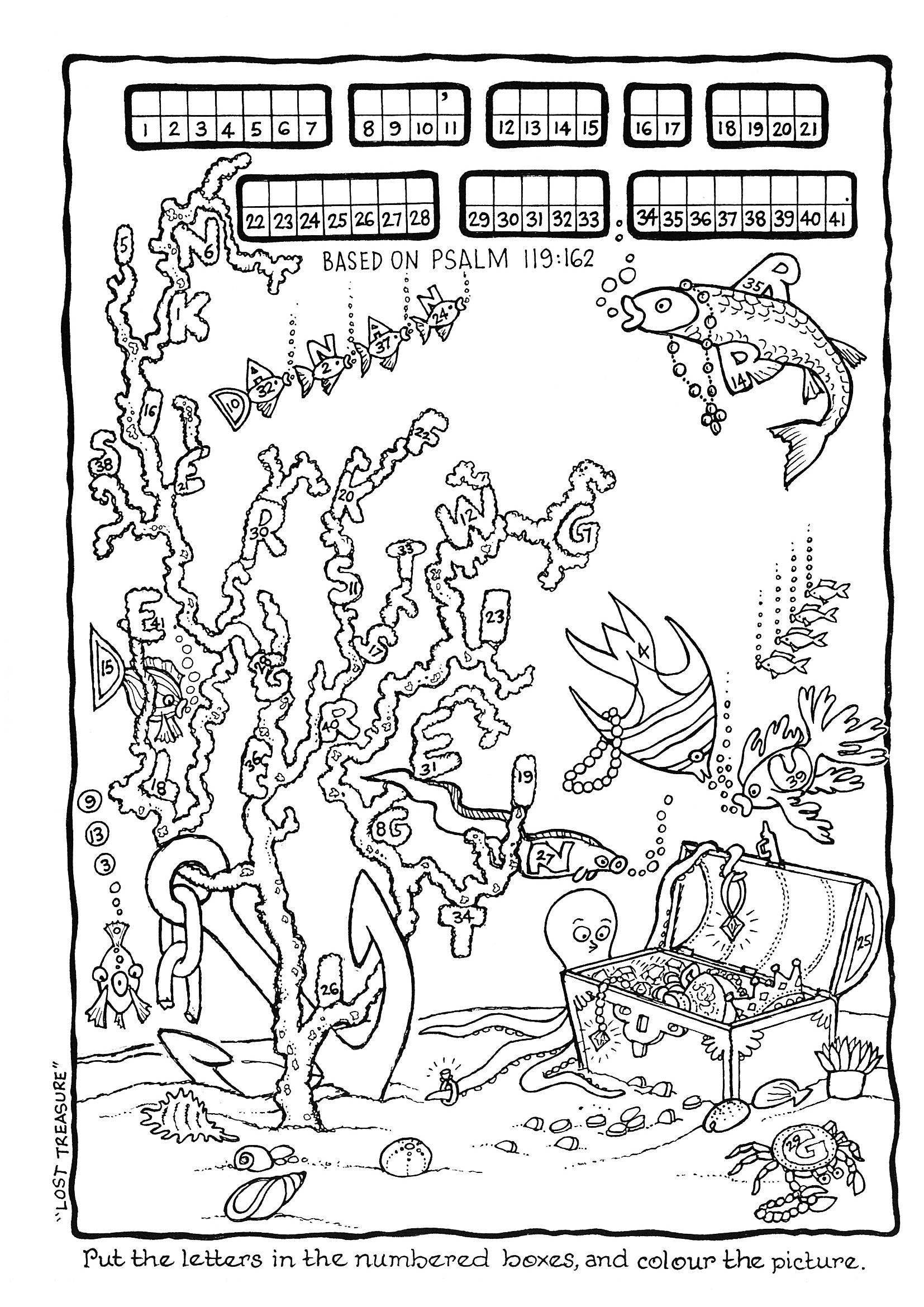 the bible is gods word coloring pages   Knowing God's Word Is Like Finding Great Treasure - Puzzle ...