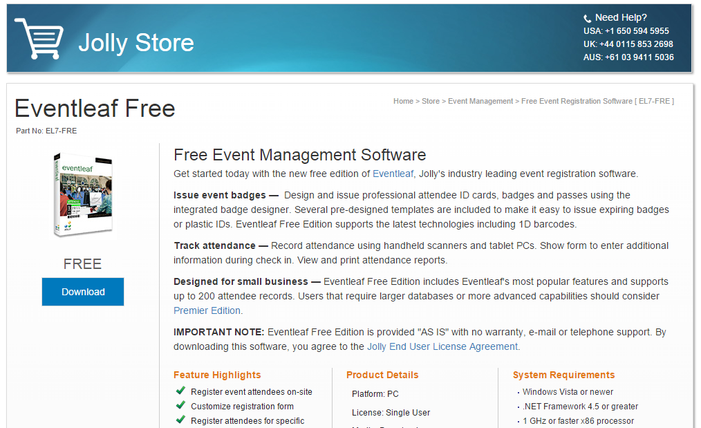 FreeEventManagementSoftwareElFre