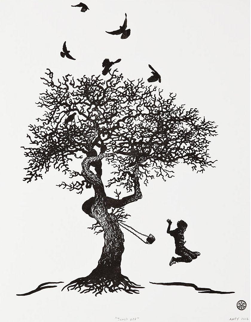 Tattoo By Matthew Amey: Tattoo Art, Rope Swing, Tree